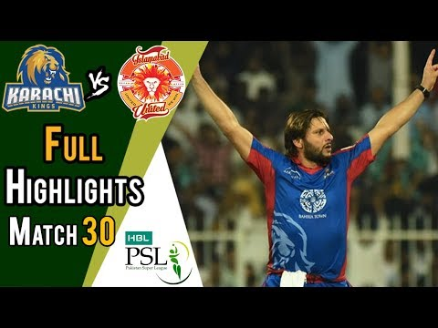 Xxx Mp4 Full Highlights Karachi Kings Vs Islamabad United Match 30 16 March HBL PSL 2018 3gp Sex