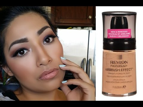 NEW Revlon Photoready Airbrush Effect Foundation Golden Beige FIRST IMPRESSIONS Full Day Wear Review