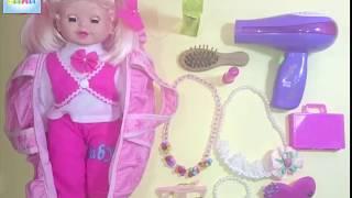 العاب اطفال لعبة تزيين عروسة تلبيس عروسة  baby games Play Set makeup with new styling