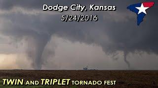 May 24, 2016 • Dodge City, KS Tornadoes (HOUR LONG!)