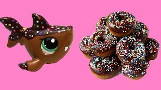 Custom LPS Shark Chocolate Rainbow Sprinkle Donut Inspired DIY Littlest Pet Shop