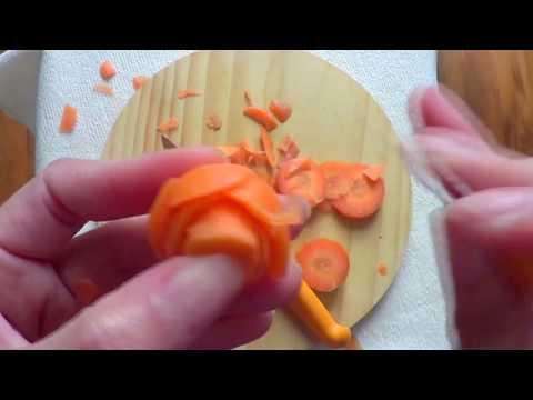 แกะสลักแครอทเบื้องต้น ดอกกุหลาบ carrot carving food decoration