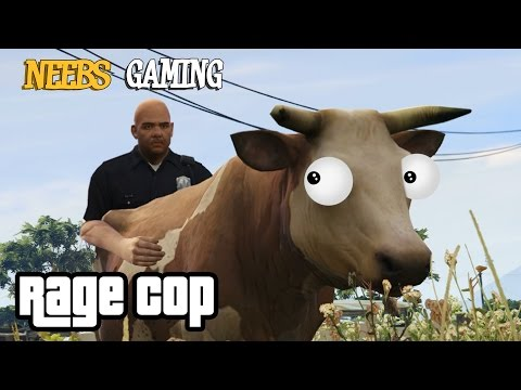 GTA5 PC Mod: COW PARTY : RAGE COP (Grand Theft Auto 5 Funny Gameplay Series)
