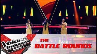 "Gadis & Sharla & Sabi ""Desert Rose"" | Battle Rounds | The Voice Kids Indonesia S2 GTV 2017"