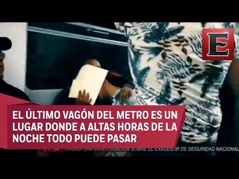 Cajita feliz en el último vagón del metro en la Ciudad de México