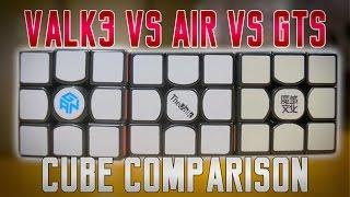 MFG QiYi VALK 3 VS GAN 356 AIR VS MOYU WEILONG GTS [Cube Comparison]