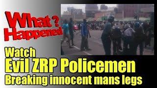 Watch Evil ZRP Cops break innocent mans legs. They Push Him Onto  a commuter omnibus