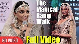 The Magical Ramp Walk   Sushmita Sen Full Video   Lakme Fashion Week 2018