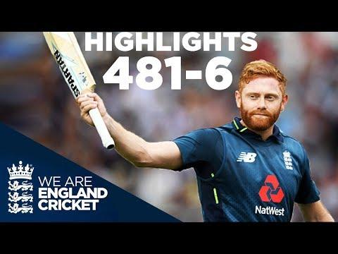 England Smash World Record 481 6 England v Australia 3rd ODI 2018 Highlights