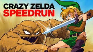 The Legend of Zelda: A Link to the Past SPEEDRUN -  Finished in Under 4 Minutes (SNES Classic)