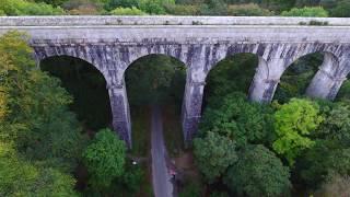 Treffry Viaduct & Aqueduct Cornwall England World Heritage Site Filmed In 4k