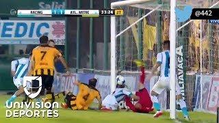 El insólito gol de Lisandro López con su espalda y de rebote en la Copa Argentina