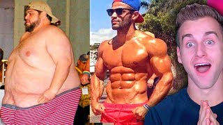 Reacting To Insane FAT to LEAN Body Transformations (UNREAL)