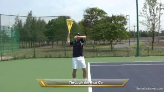 Learn To Serve In Tennis With A Loose Wrist: The Bag Trick