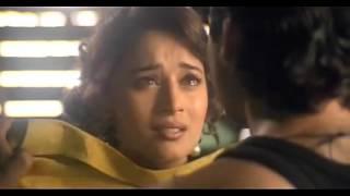 Madhuri Dixit in black bra opens shirt, scene from RAJA