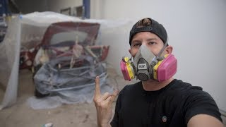 Painting the Interior of my 350z *DIY Paint Booth*