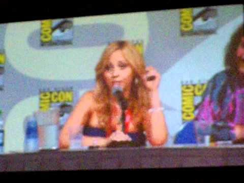Voice over actors Rob Paulsen and Tara Strong at SDCC2011