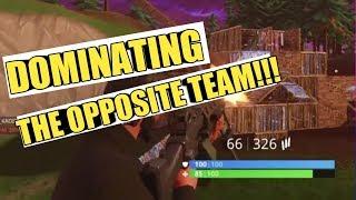 Dominating the Opposite Team on Fortnite Battle Royale
