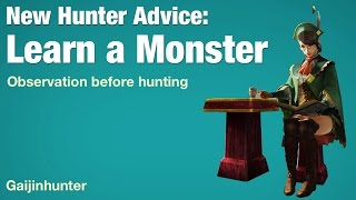 Monster Hunter Tip: Learning a Monster