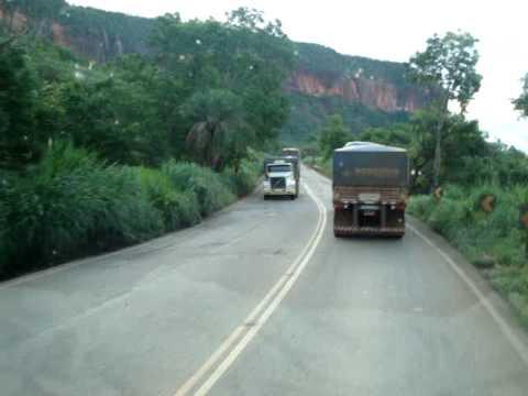 Scania 124 400 Bitrem descendo a Serra da Petrovina Mt