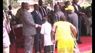 Museveni blames disability in children on ignorance and poverty