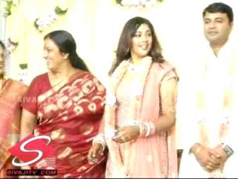 Meena Wedding Reception Video On SIVAJI TV COM First On Net With Vidhyasagar