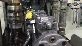 Excavator Main Hydraulic Pump Receiving Pressure & Flow Rate Test