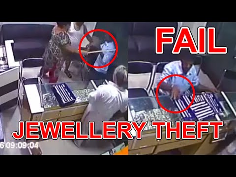 Jewellery Theft Fail 2016 Caught By Shop Owner | Full video