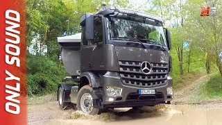 NEW MERCEDES ACTROS PERFORMANCE DAYS 2018 - FIRST TEST DRIVE ONLY SOUND