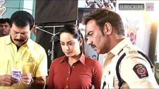 Ajay Devgan on set of CID for promotion of Singham Returns