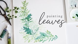 Painting Leaves in Watercolor