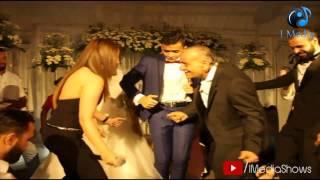 زفاف أبنة شقيق السبكي   شاهد بوسي ترقص رقصة مثيرة مع أخو السبكى فى فرح بنتة