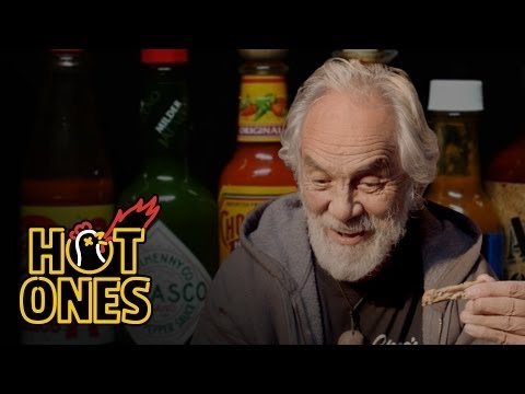 Tommy Chong Talks Weed Bernie Sanders and Smoking with Snoop While Eating Spicy Wings Hot Ones