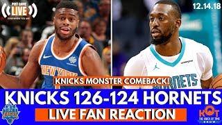 Emmanuel Mudiay and Luke Kornet Spark Knicks COMEBACK Over Hornets!  LIVE Postgame Fan Reaction