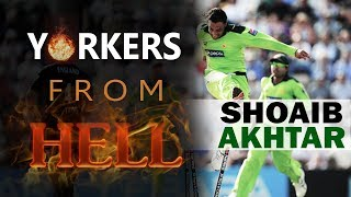 Yorkers from Hell - 5 best yorkers of Shoaib Akhtar || World Fastest Bowler ||