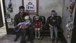 """Syrian civilians """"waiting for death"""" amid government airstrikes"""
