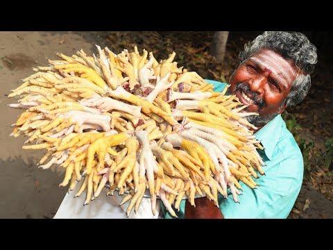 Xxx Mp4 WOW 150 CHICKEN LEGS Daddy Prepared Chicken Feet Fry Crispy Chicken Fry Farmer Cooking 3gp Sex