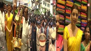 Kajal Agarwal Huchal at Khammam | Inaugurates Chennai Shopping Mall | REPORTERBOX