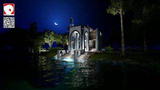 Sketchup 16 & Lumion 6, Night view, Mosjid design, Ashugonj by PRODHAN's Design Studio