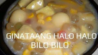 GINATAANG HALO HALO or BILO BILO