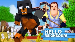 Minecraft HELLO NEIGHBOUR CHALLENGE - WHO CAN ESCAPE THE NEIGHBORS HOUSE AT 3AM?? - Donut the Dog