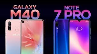 Samsung Galaxy M40 vs Redmi Note 7 Pro - Specs | Price | Camera | Detailed Comparison (Hindi)