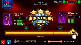 Sniper Cue LEVEL 3 - Holidays Win Streak Challenge / 8 Ball pool ▪NISI-ULTRA▪