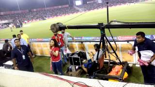 Preety Zinta got angry with a fan during IPL match in Mohalli | Video by Abhishek