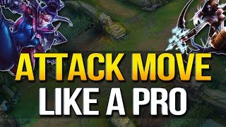 Best way to learn to ATTACK MOVE LIKE A PRO IN ANY ROLE –Kite & CS Better (League of Legends)