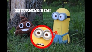 GIVING KEVIN THE MINION BACK TO THE REAL LIFE POOP EMOJI! *Did We Succeed?*