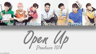 produce 101 knock open up han rom eng color coded lyrics