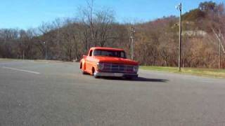 1968 Ford F100, burnout
