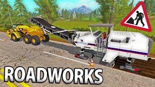 ROADWORKS IN FARMING SIMULATOR 17 | SAND & GRAVEL