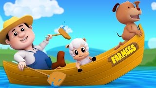 Row Row Row Your Boat | 3D Nursery Rhymes | Kids Songs | Baby Rhymes